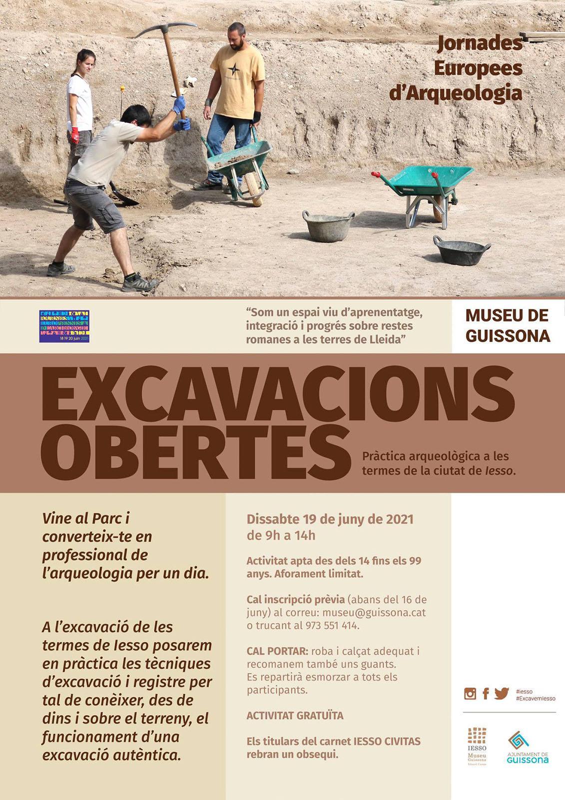 cartell Jornada 'Excavacions obertes