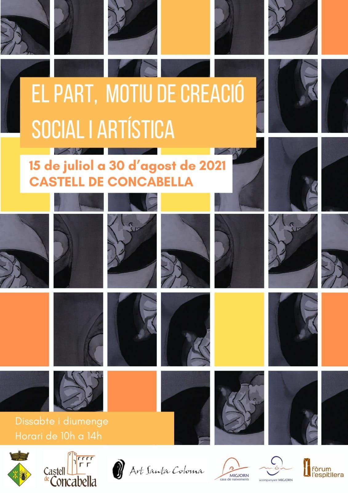 cartell Exposició 'El part, motiu de creació social i artística'
