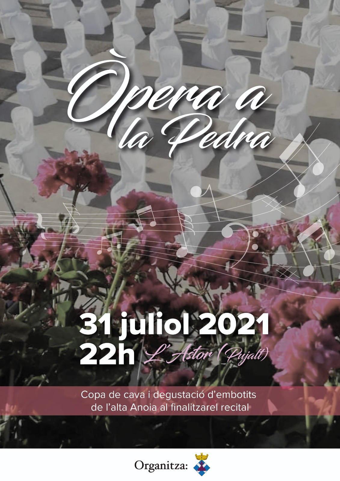 cartell Òpera a la Pedra 2021