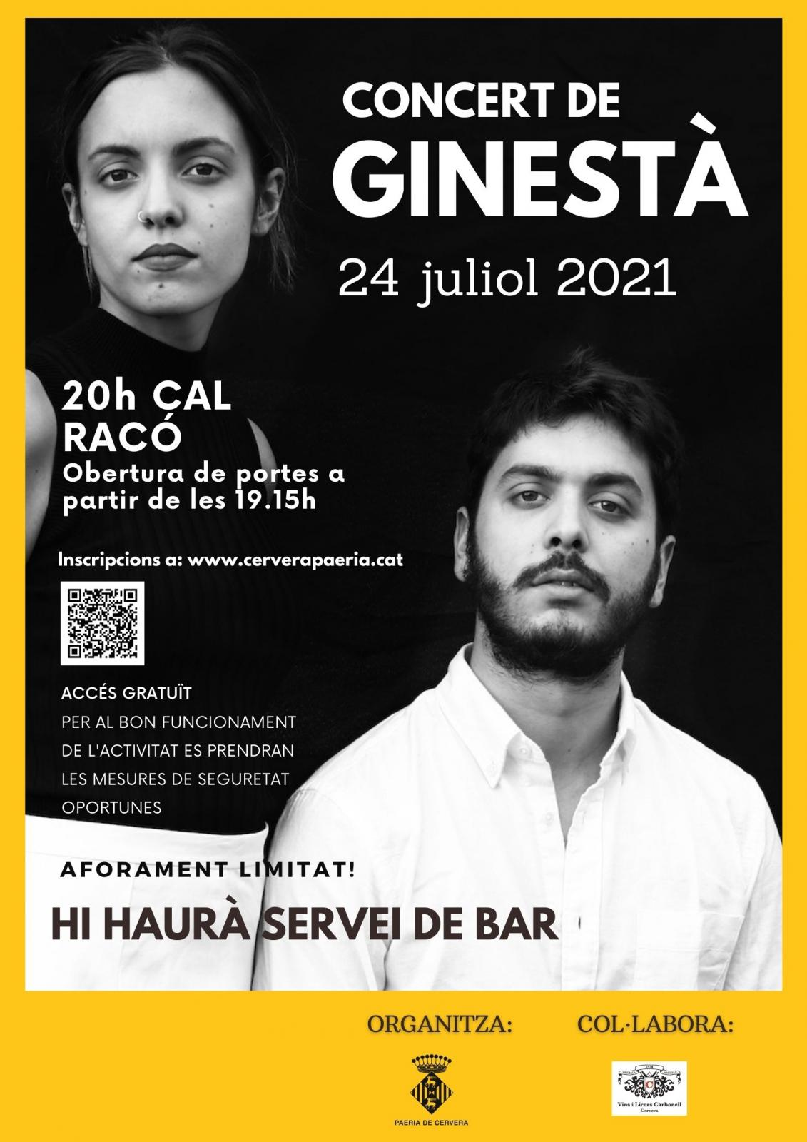 cartell Concert de Ginestà