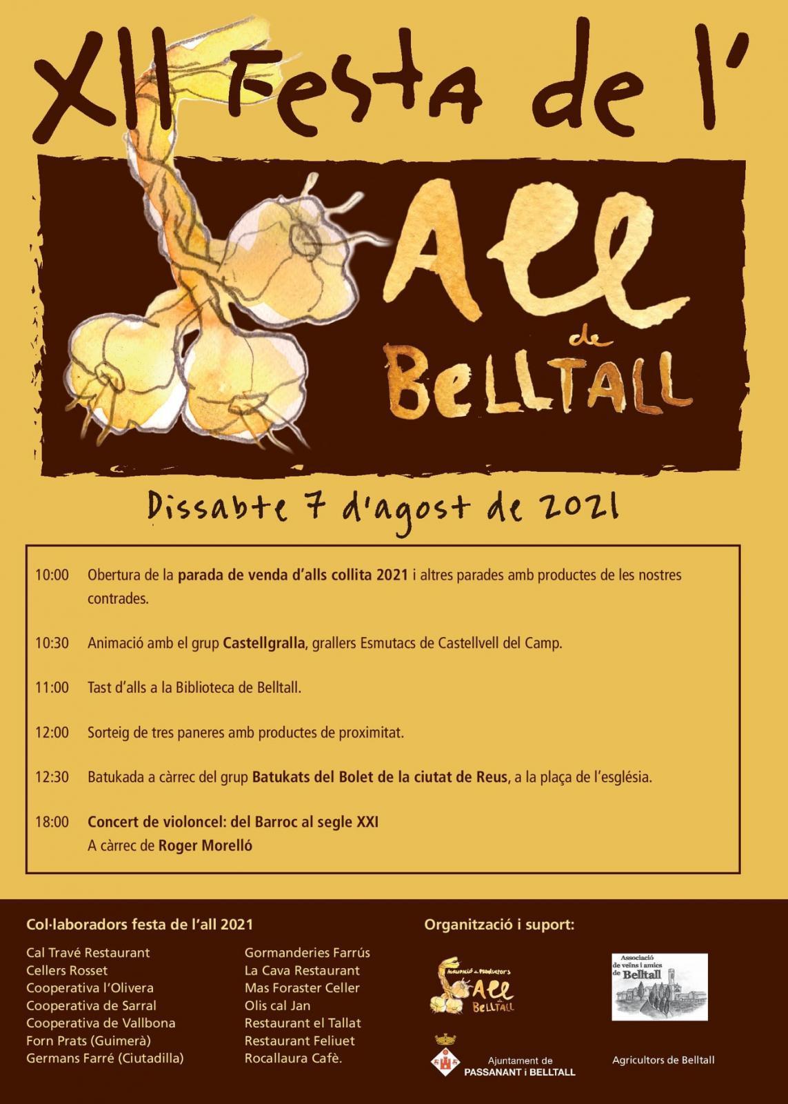 cartell XIIa Festa de l'all de Belltall
