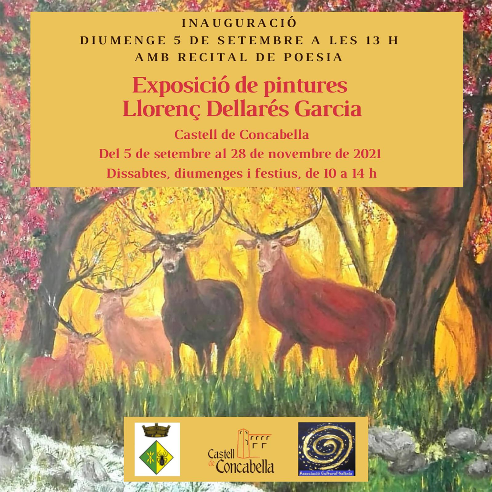 cartell Exposició de pintures 'Llorenç Dellarés Garcia'