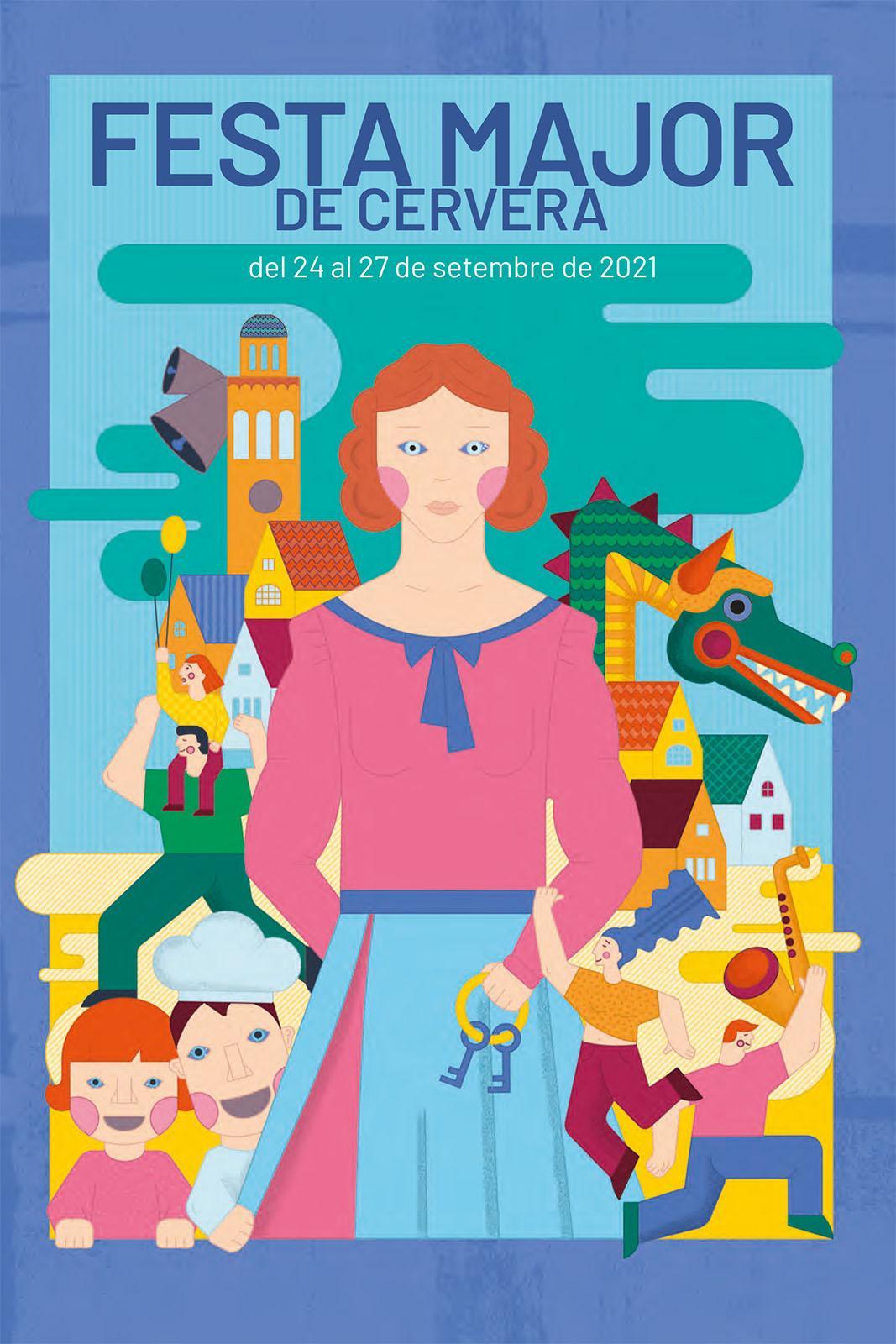 cartell Festa major del Sant Crist de Cervera 2021