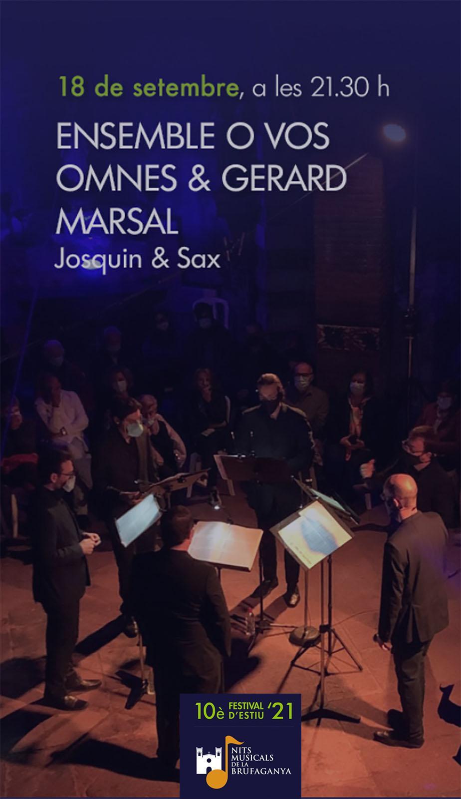 cartell Ensemble O Vos Omnes i Gerard Marsal (Nits Musicals de la Brufaganya)