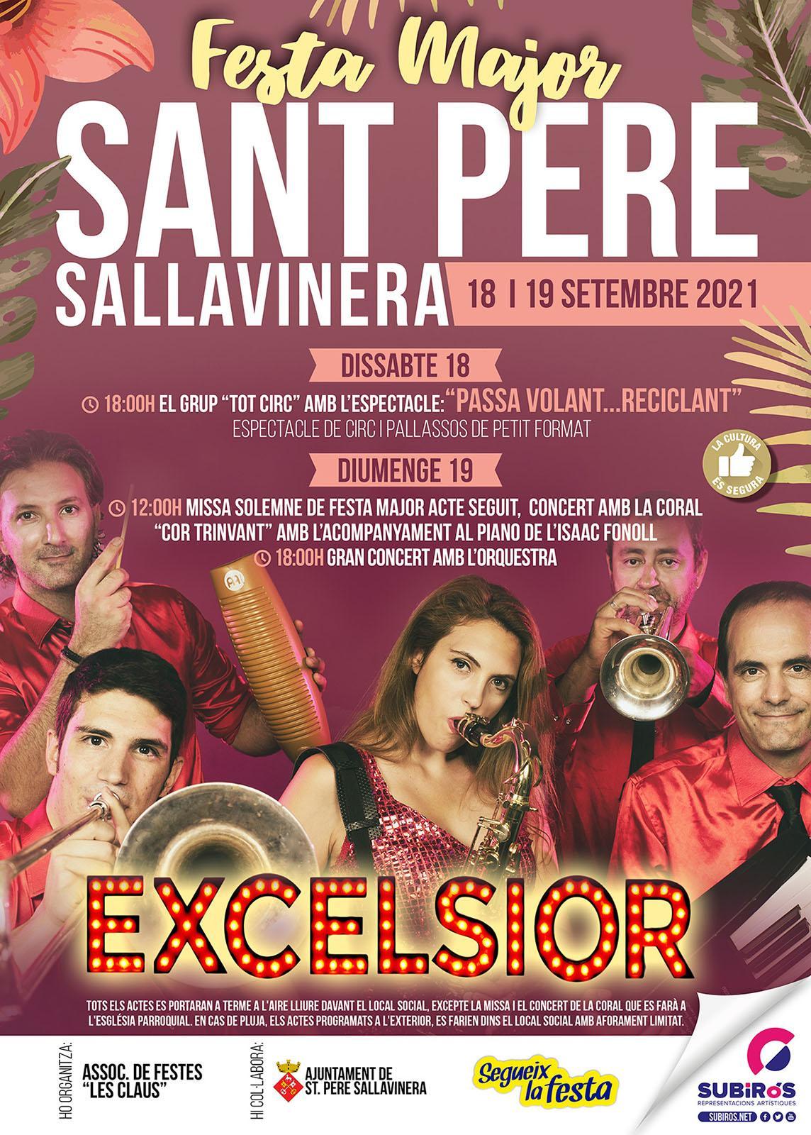 cartell Festa Major de Sant Pere Sallavinera 2021