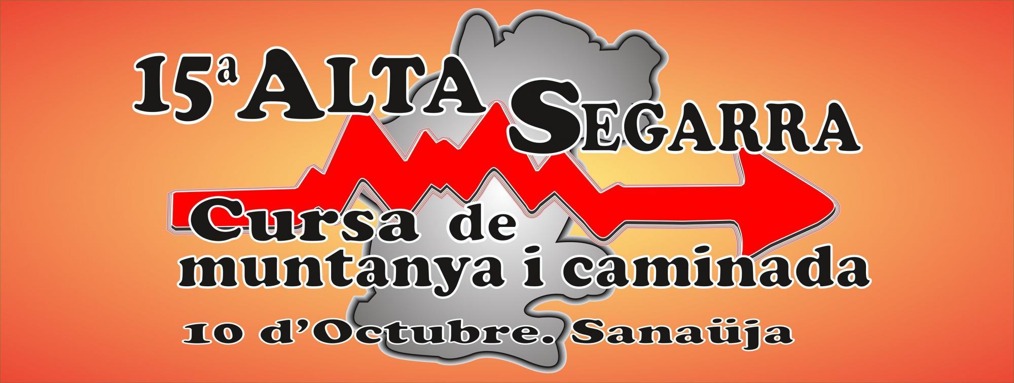 cartell XV Cursa de muntanya Alta Segarra